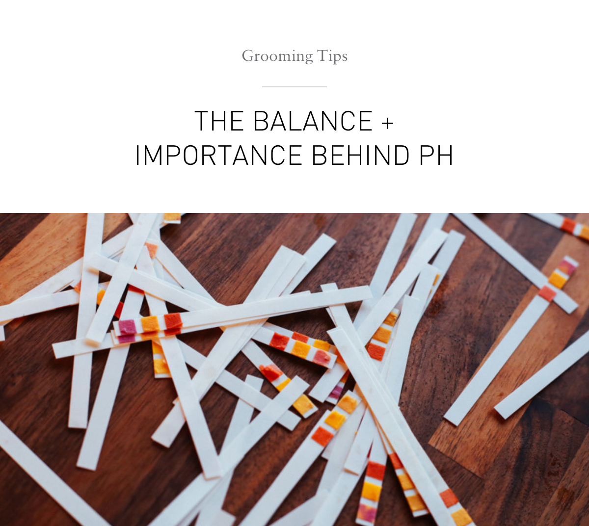 grooming tips. The balance + importance behind pH