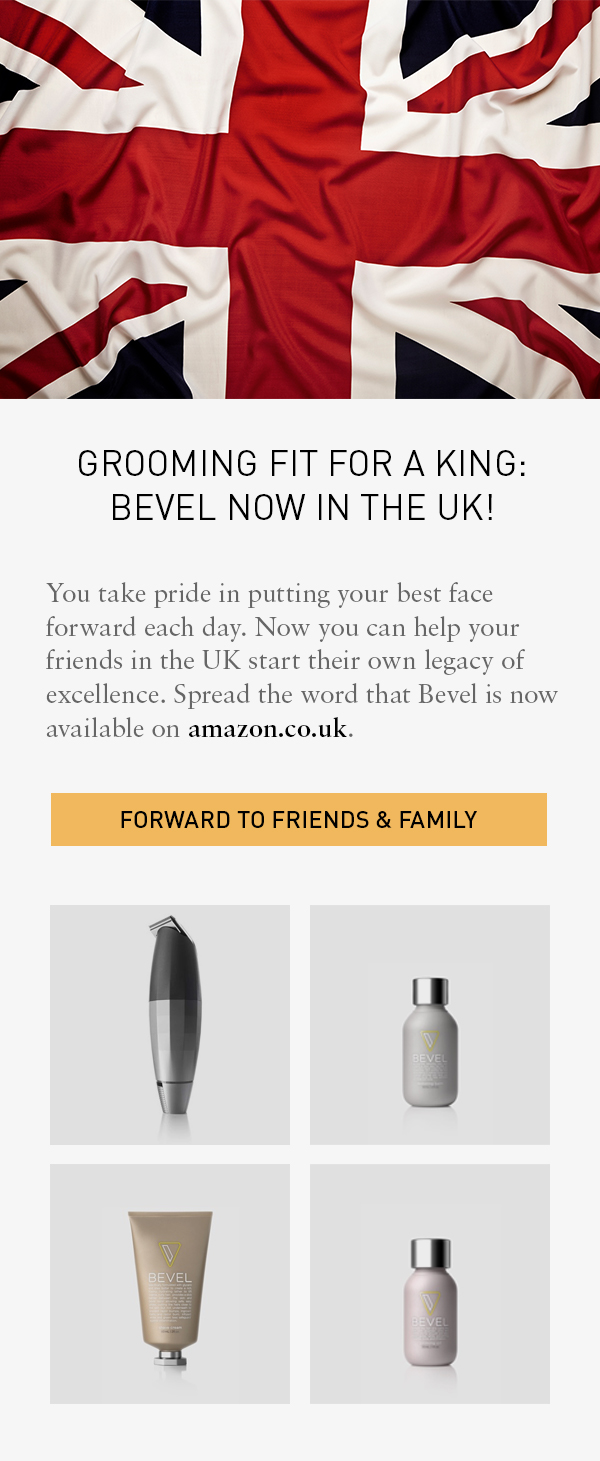 BEVEL NOW IN THE UK!