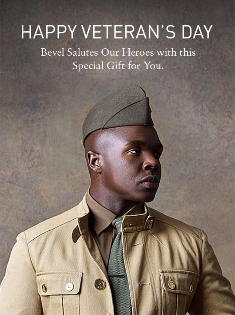 Happy Veteran's Day Bevel Salutes Our Heroes with this special gift for you.