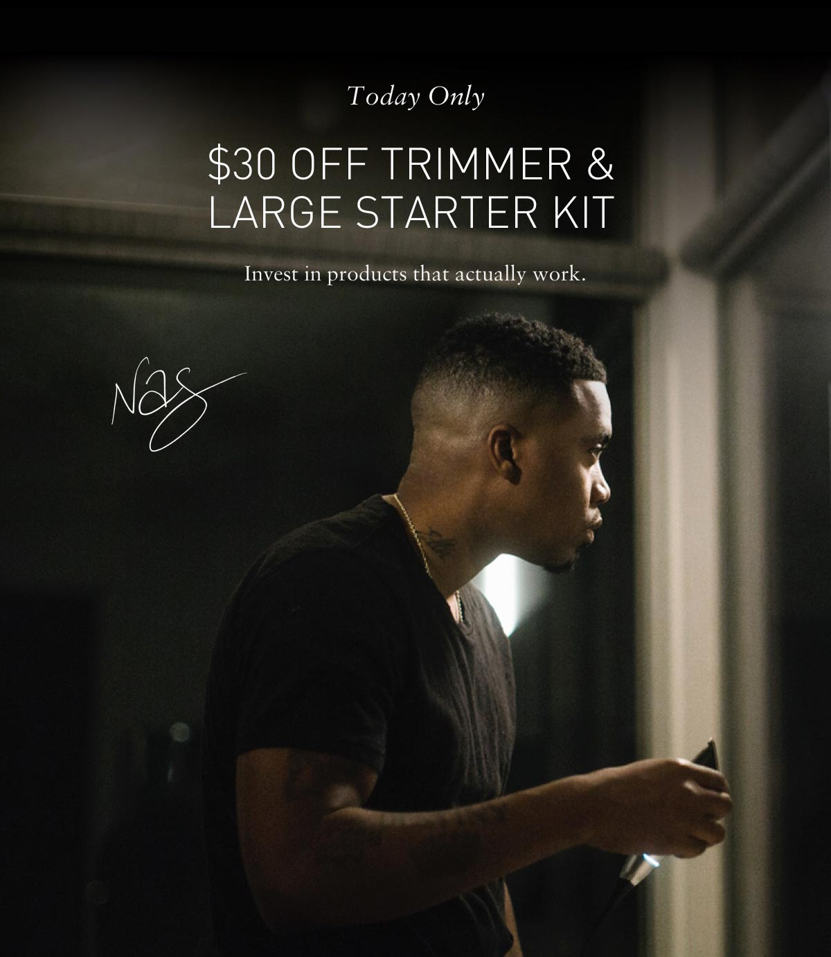 Today Only $30 off trimmer and large starter kit