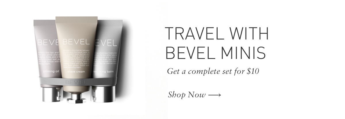 Travel with Bevel Minis 3 for $10