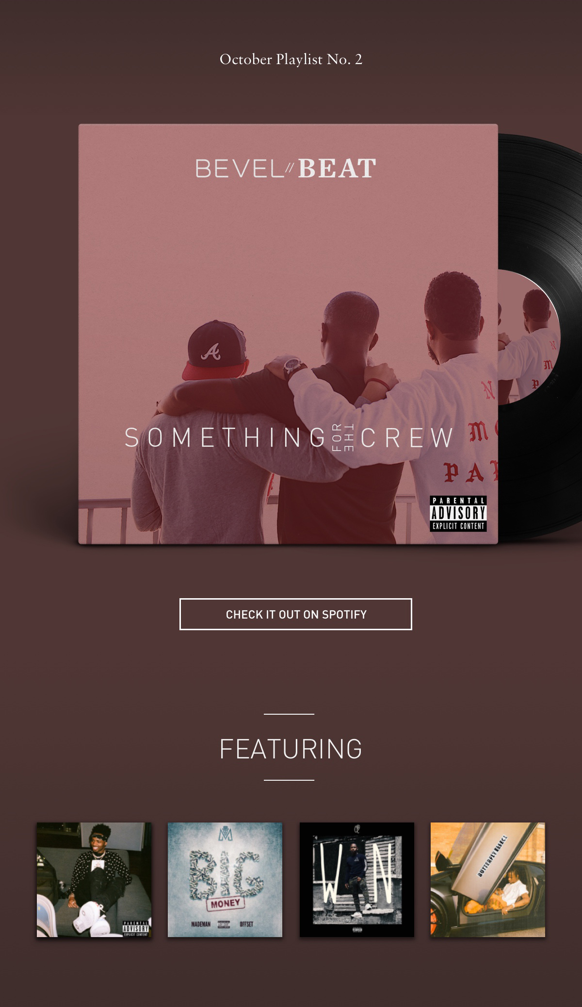 October Playlist No. 2 SOMETHING FOR THE CREW