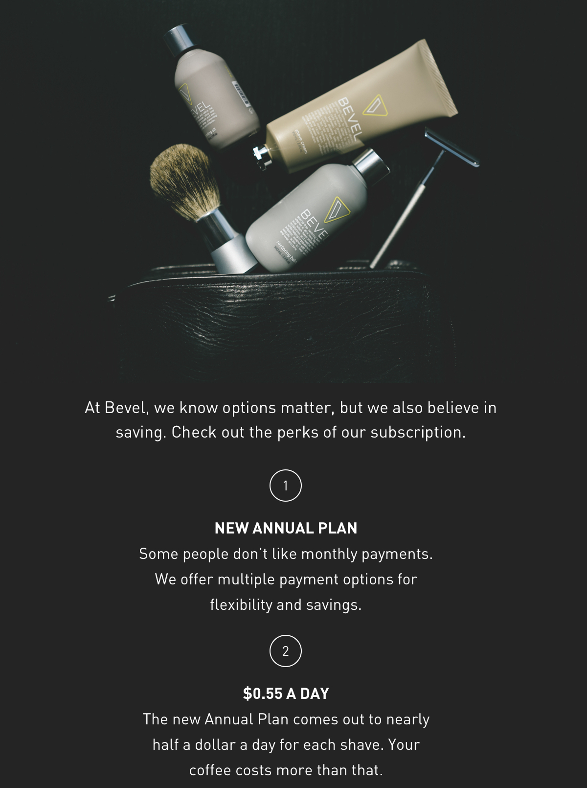 Check out the perks of our Bevel subscription