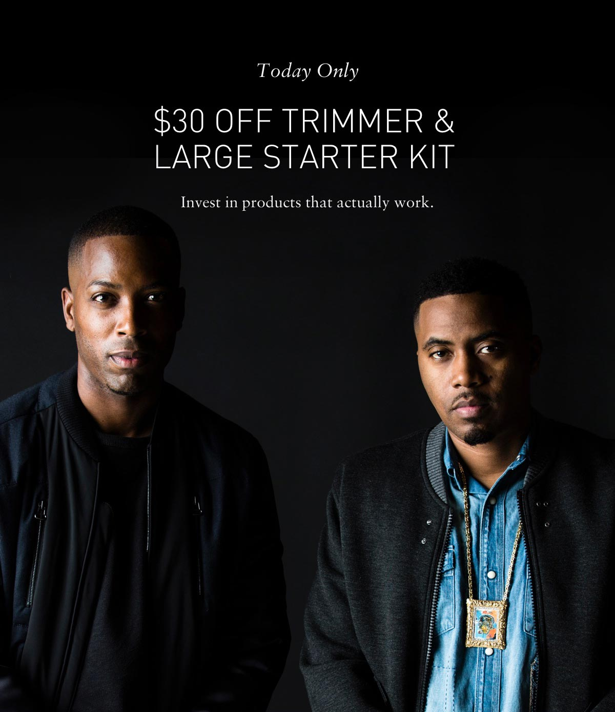 Today only $30 off trimmer & large starter kit