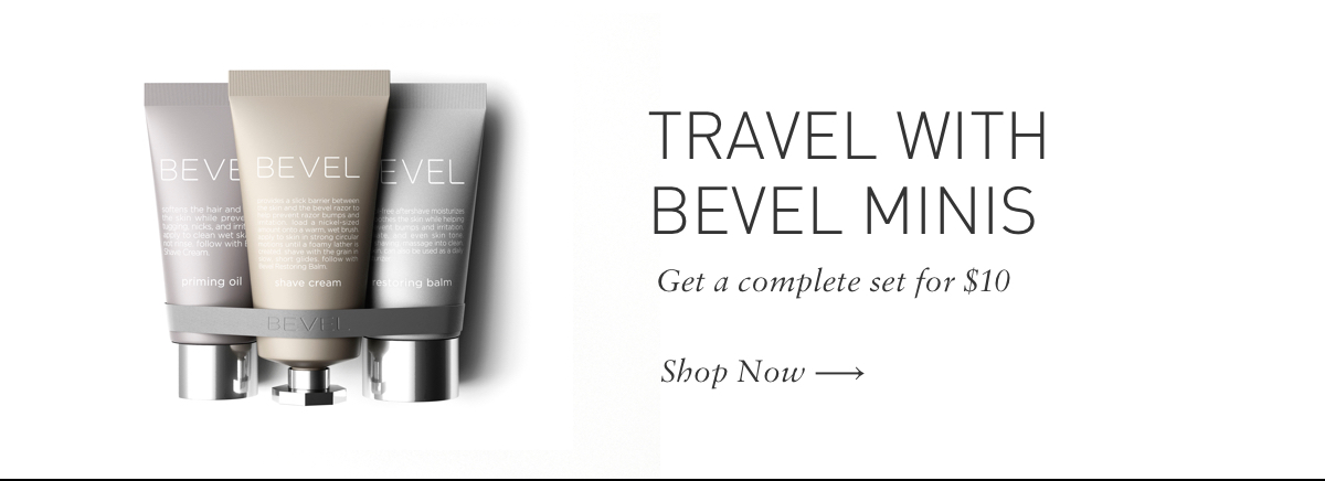 Travel with Bevel Minis for $10
