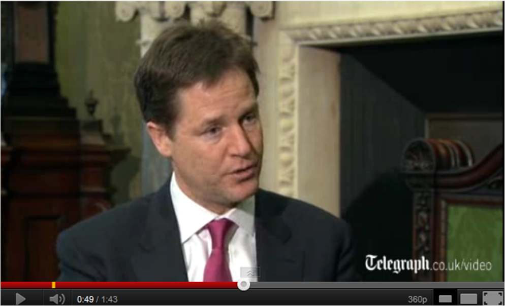 Nick Clegg interview