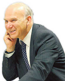 Not sacked: Vince Cable