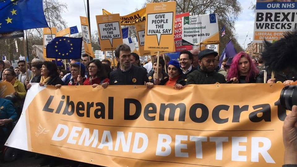 Lib Dems on the Put It To The People march