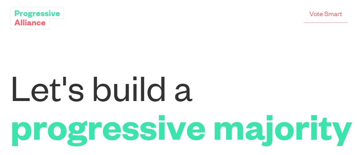 Progressive Alliance website screenshot