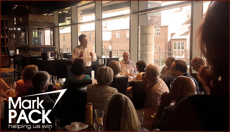 Mark Pack speaking in Birmingham at a Lib Dem fundraiser