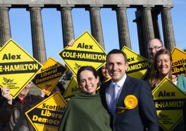 Alex Cole-Hamilton and the Lib Dem team in Edinburgh