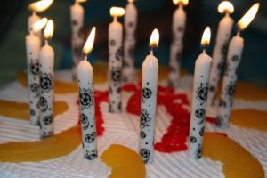 Birthday cake candles. Photo courtesy of http://www.freeimages.com/photo/1060565 - some rights reserved