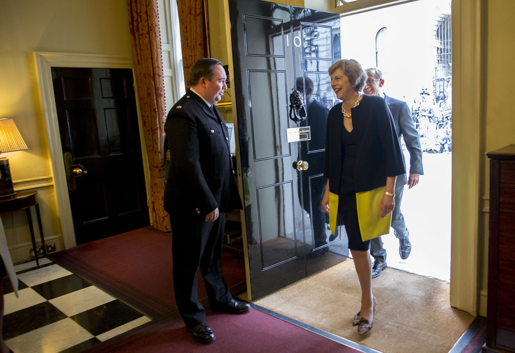 Theresa May and her husband enter 10 Downing Street - photo CC BY-NC-ND 2.0 courtesy of 10 Downing Street