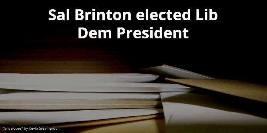 Sal Brinton elected President