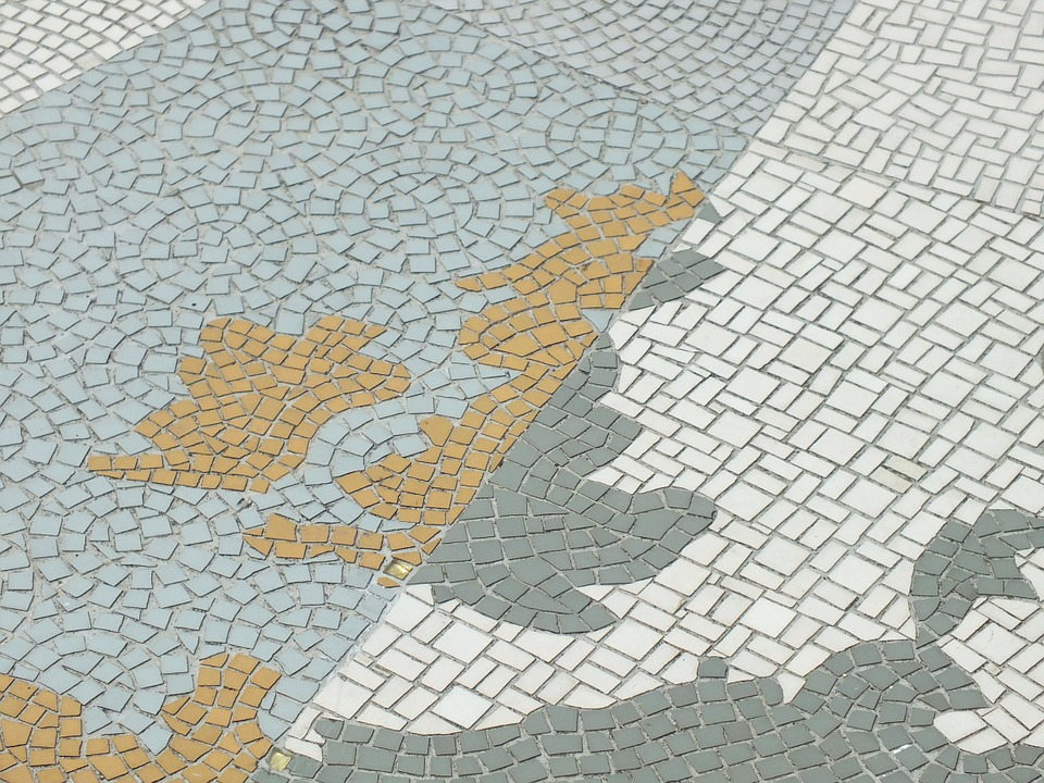 Mosaic map of the UK. CC0 Public Domain