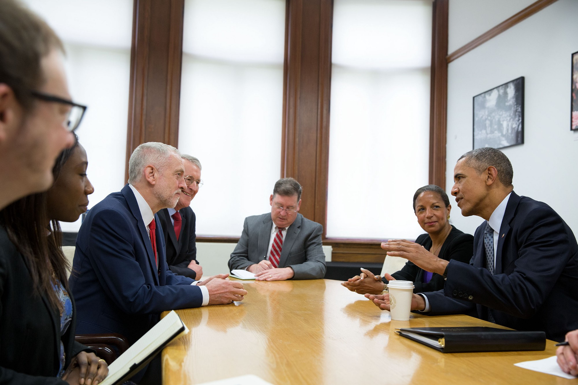Jeremy Corbyn meets Barack Obama