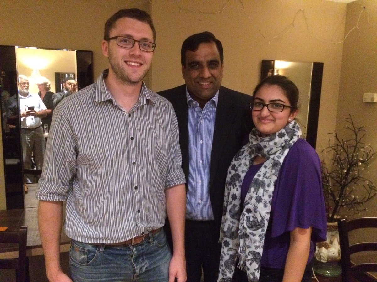 Dipa Vaya and Shaffaq Mohammed at a Watford Lib Dems diversity event