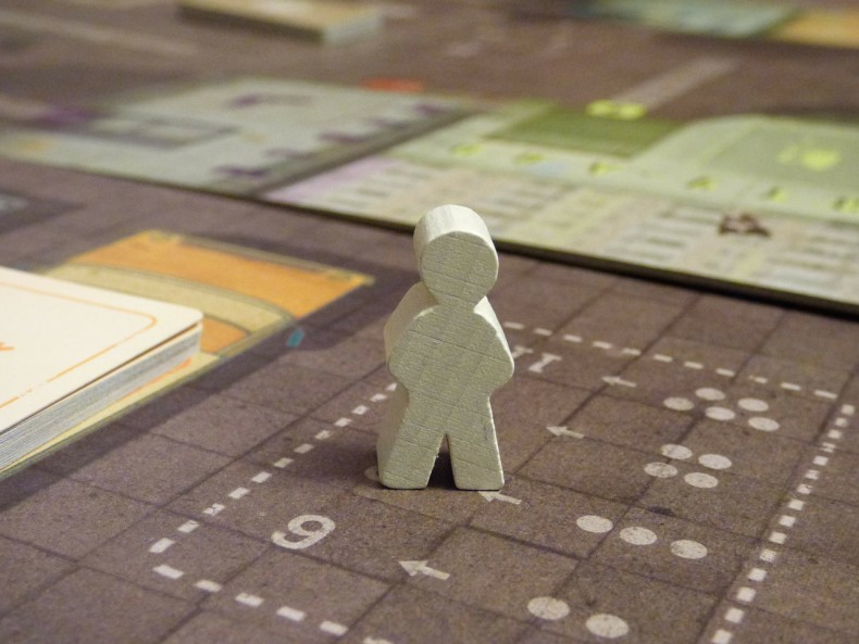 A board game close up