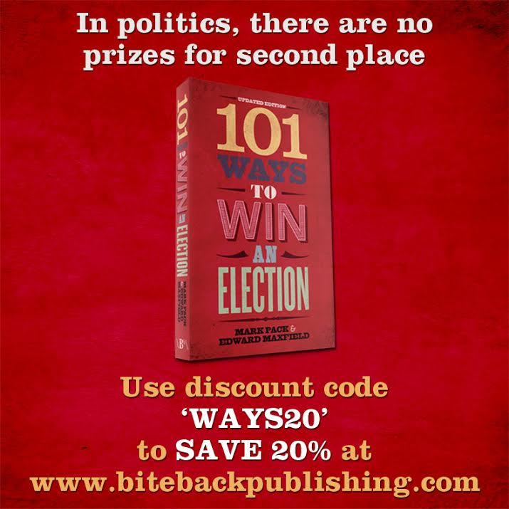 101 Ways To Win An Election - book advert