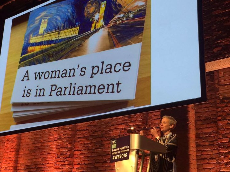 A woman's place is in Parliament