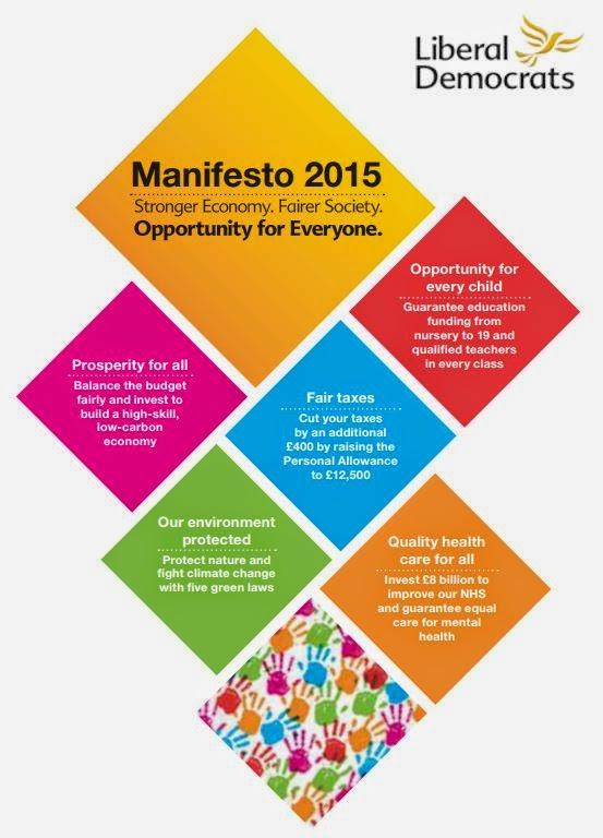 Front page of Lib Dem 2015 manifesto