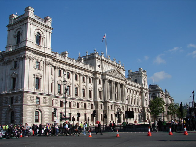 The Treasury building in Whitehall