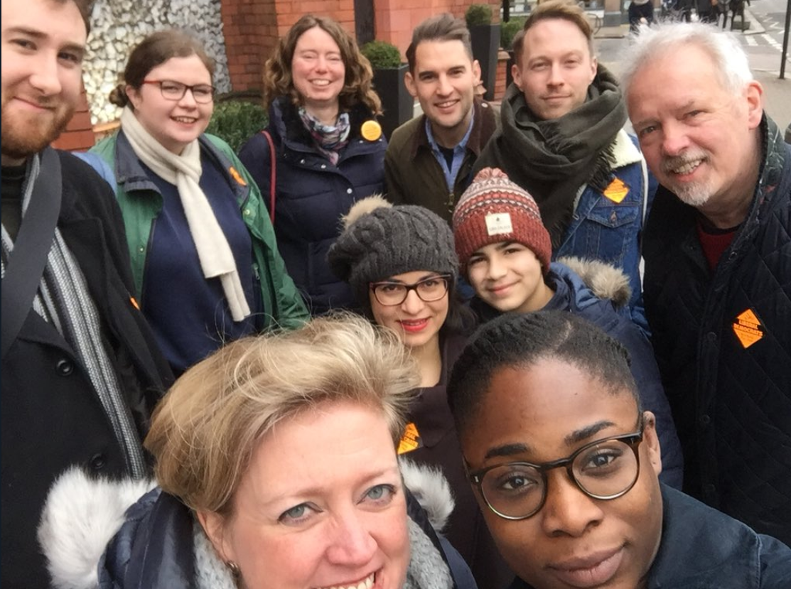 Lib Dem campaigners in Haringey - photo from @julez_an on Twitter