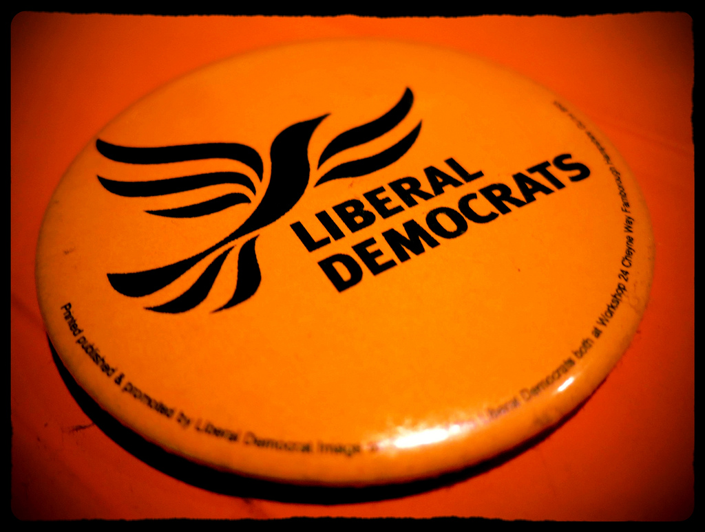 Lib Dem badge - photo by Paul Walter