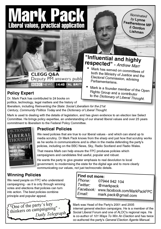 Mark Pack's FPC manifesto