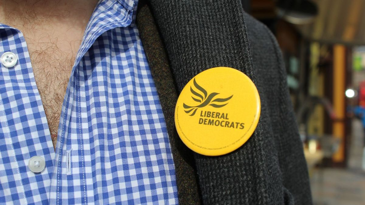 Person wearing a Lib Dem badge - photo courtesy of the Lib Dems CC-BY-ND 2.0