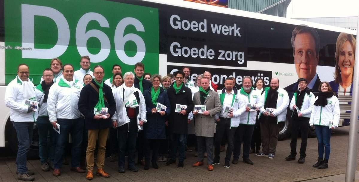 D66 campaigners in Holland