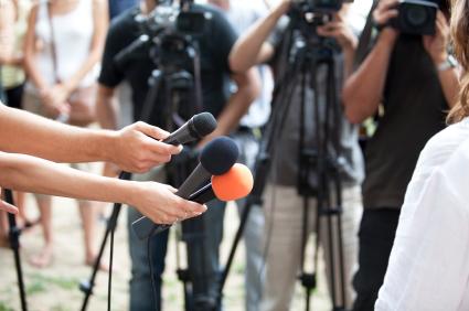 A media scrum