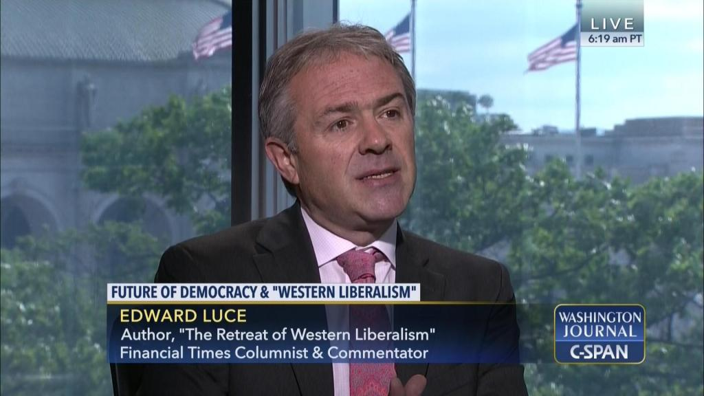 Author Edward Luce on C-Span TV