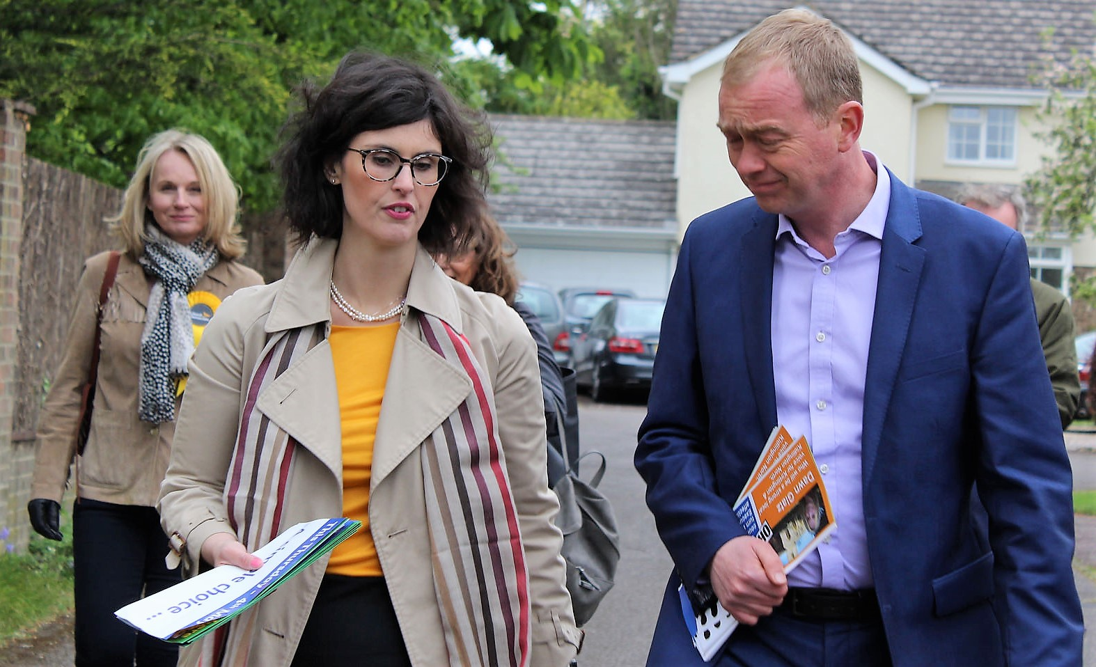 Tim Farron campaigning in Oxford