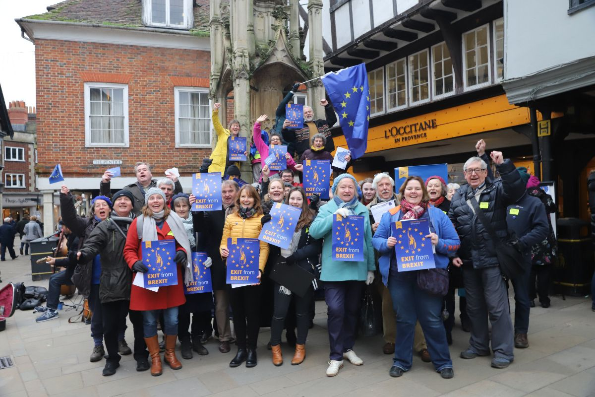 Lib Dem anti-Brexit campaigners in Hampshire