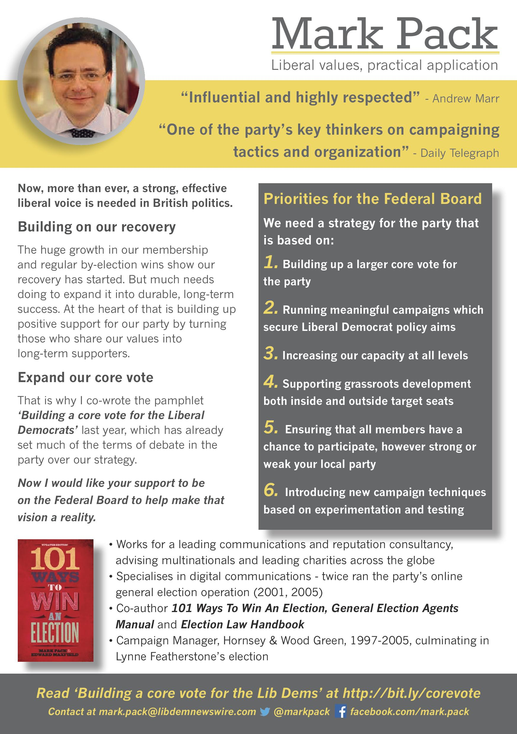 Mark Pack's Federal Board manifesto