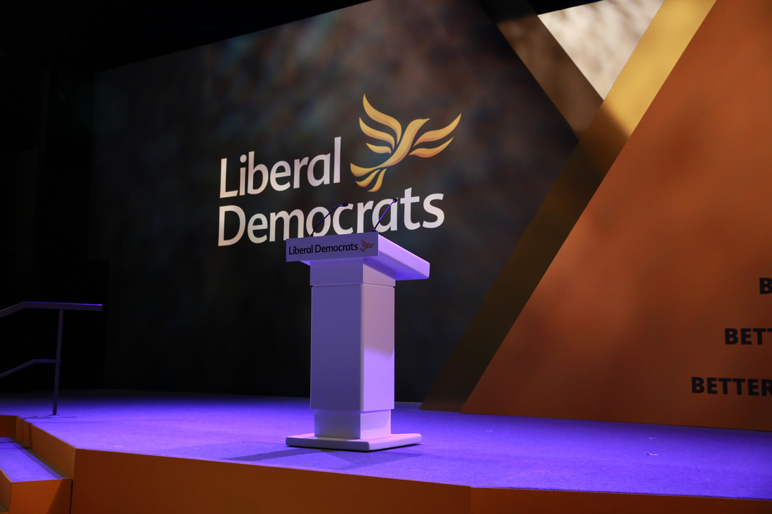 Empty podium at a Liberal Democrat conference - photo copyright John Russell johnrussell.zenfolio.com