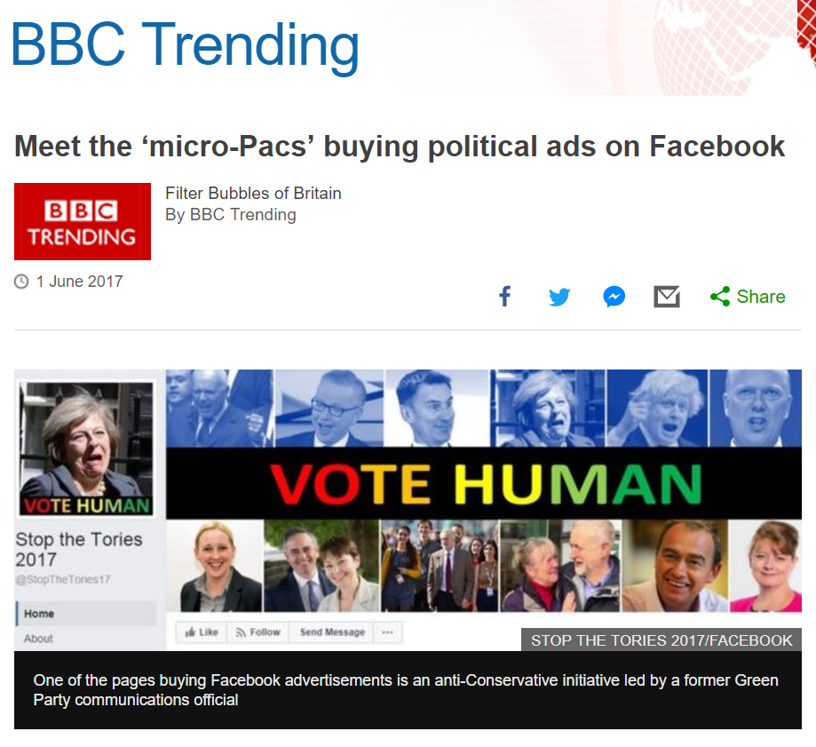 The micro-PACs enter British politics