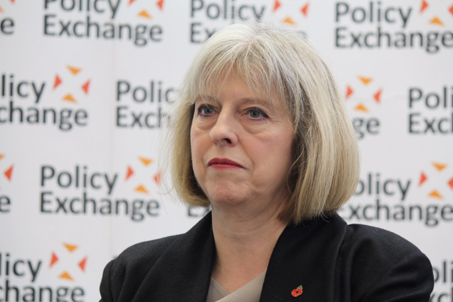 Theresa May in serious mode
