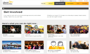 Lib Dem website screenshot