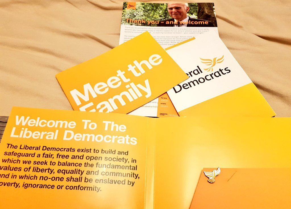 Lib Dem new member pack