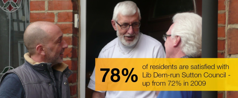 78% of residents are satisfied with Sutton Council