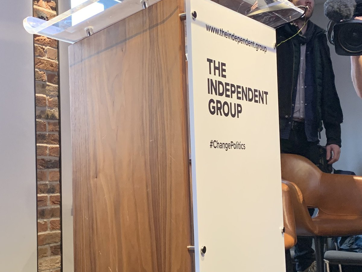 The Independent Group podium – photo via Ross Kempsell on Twitter
