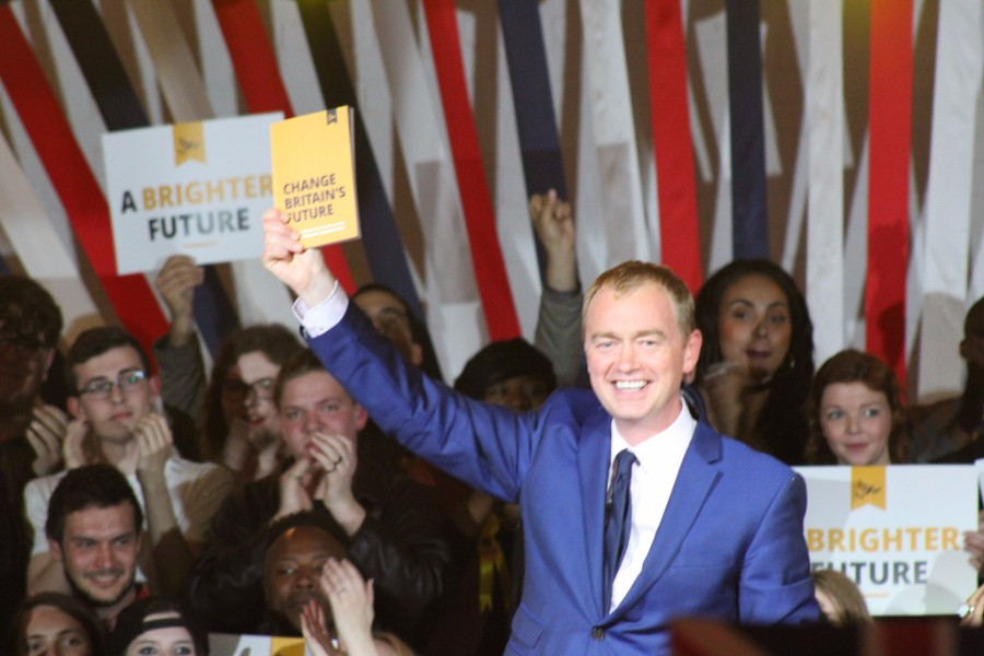 Tim Farron at the 2017 general election manifesto launch - photo courtesy of the Lib Dems CC BY-ND 2.0