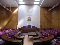 Inside a Town Hall