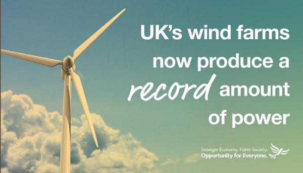 Wind farms infographic from the Lib Dems