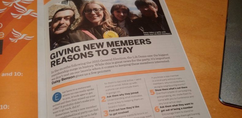 Story about new Lib Dem members from Ad Lib