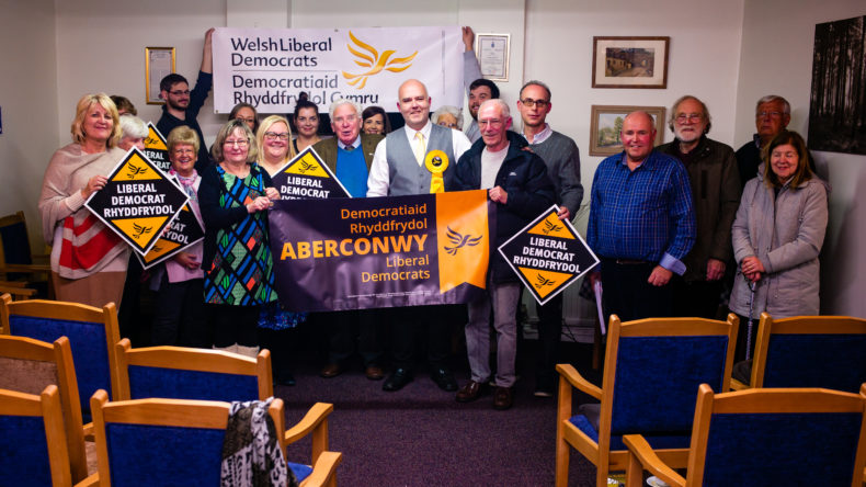 Jason Edwards with Aberconwy Liberal Democrats