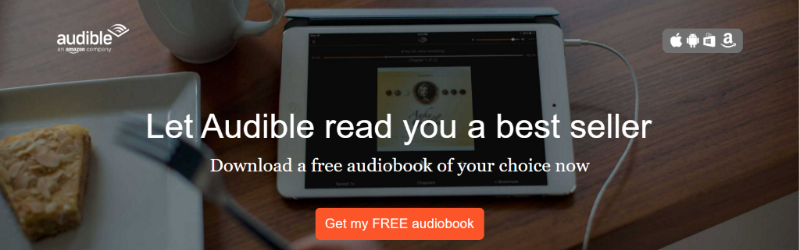 Get a free 30 day trial with Audible, including a free audiobook, now.