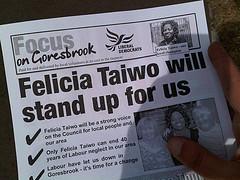 Barking Liberal Democrats leaflet
